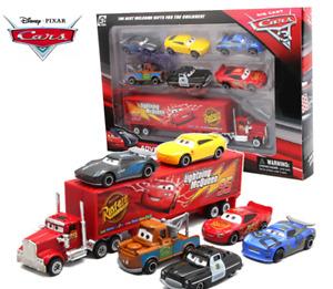 7 Disney Pixar Cars Mcqueen Model Car Truck Metal Diecast Vehicle Toy Pack Gift