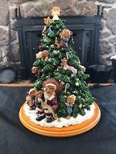 2001 The Boyds Bears Christmas Tree, Santa Bear, Lighted Tree, Danbury Mint