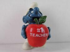 A16- Schlumpf / Smurf mit rotem Apfel , Promo #1 Teacher