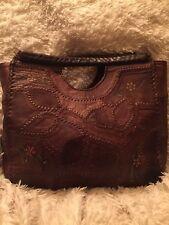 Vintage Char Signed Patchwork Leather Hand Bag Boho Rare