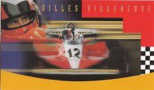 Canada 1997 Gilles Villeneuve Formula One Race Car Driver stamp folder CA157136
