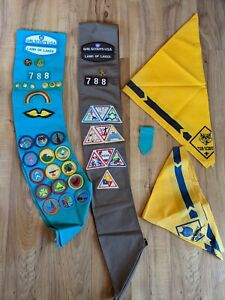 Vintage Girl Scouts Sashes With Patches & Pins