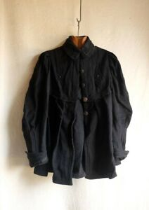 Original19th century Victorian French wool silk hand tailored jacket