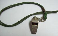 Vintage ACME Thunderer Whistle  - GI Green Lanyard England