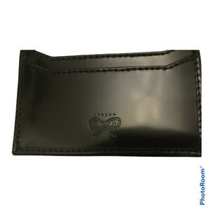 New Anya Hindmarch black leather card holder / wallet