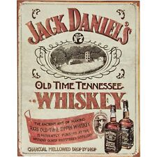 Jack Daniels - Sippin Whiskey Vintage Retro Tin Metal Sign 13 x 16in
