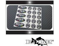 Delkim TXI PLUS EV STD Delkim style oval & dial sticker decal set Special set !