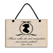 Handmade Wooden Jane Austen Quote 205