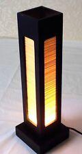 Lámpara de mesa Mesa de bambú de Asia Oriental de Madera Dormitorio Hogar Decoración Lámpara 38.5cm