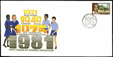 Christmas Islands 1981, 50 Year Of Formal Education Cover #C37067
