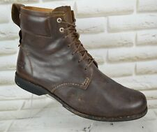 TIMBERLAND Mens Brown Leather Outdoor Ankle Boots Lace-Up Shoes Size 10 UK 44 EU