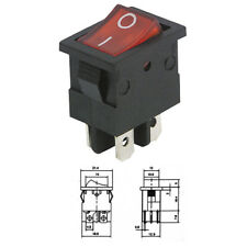 Mini Wippenschalter 4 Polig beleuchtet 250V 6A 125V 10A Ein/Aus Wippschalter Rot