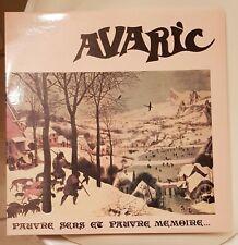 AVARIC – Pauvre Sens Et Pauvre Mémoire FRENCH MEDIEVAL FOLK PSYCH PROG original