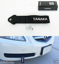 1 TANAKA UNIVERSAL BLACK RACING SPORTS TOW STRAP TOW HOOK 8000 LBS