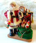 Fabric Mache SANTA CLAUS FIGURINE Fireplace Cookie Toys Christmas Decor Kirkland
