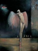 """high quality oil painting 100% handpainted on canvas """"Angel"""""""