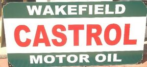 CASTROL WAKEFIELD ENAMEL SIGN REPRODUCTION (MADE TO ORDER) #89#