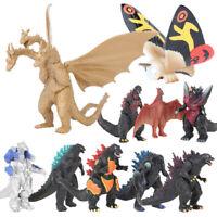 """lot of 10 Godzilla Monsters Mecha Fire Godzilla Gigan PVC FIGURE SET 2""""-4"""" Decor"""