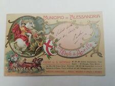 Cartolina Alessandria fiera di San Giorgio Aprile Cavalli Palio