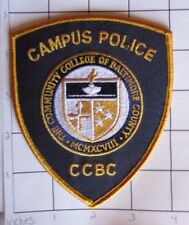 Community College of Baltimore County Campus Police Patch - Maryland  - CCBC