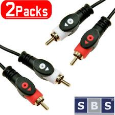 2x Cinch Chinch Kabel 5m Anschlusskabel mit 2 Stecker Audio Stereo RCA HiFi AUX