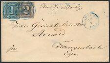 Thurn + Taxis 3 Groschen Ziffern MiF Beleg blauer Stempel Camburg 1859 (S15651)