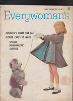Everywoman's Magazine Toni Ficalora Poodle Cover  September 1957