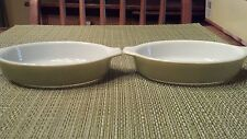 Vintage Pyrex Tableware 10 oz Au Gratin Bakeware Serving  Set  Green White