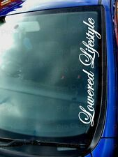 Lowered Lifestyle Small - Large Windscreen Car Stickers Decal JDM LOW Scene