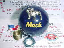 Mack Truck, 1970's retro, Roadway style glitter Shift Knobs.   (Blue W/ Yellow)