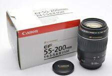Canon Zoom Lens EF 4,5-5,6 / 55-200 mm II USM EOS Tele Objektiv *wie Neu* m42