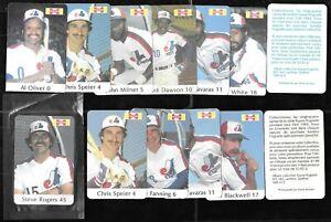 1982 HYGRADE MONTREAL EXPOS MLB BASEBALL CARD SEE LIST