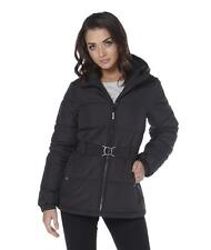 LADIES BENCH HOODED QUILTED JACKET - SIZE LARGE - BLACK - CA45102.