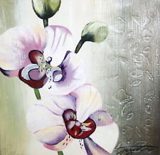 Floral oil painting signed