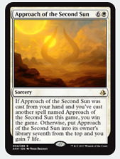 MTG X3: Approach of the Second Sun, Amonkhet, R, Heavy Play - FREE US SHIPPING!