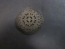 Button Turned Pendant Antique Bronze Round