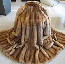 Schöner Zobel Mantel echt Pelz klassisch braun Gr. 38 - Ungetragen