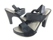 NICOLE WOMEN'S ARCHER SLINGBACK FASHION SANDAL LEATHER BLACK US SIZE 8 M,NEW