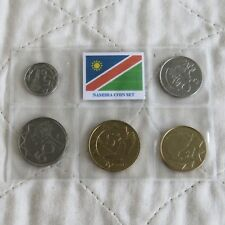 NAMIBIA 5 COIN TYPE SET - sealed pack