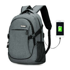 Men Anti-theft USB with Charger Port Backpack Laptop Notebook Travel School Bag