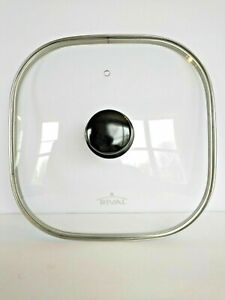 """RIVAL S12-GN 12"""" Glass Vented Square Tempered Lid for Electric Skillet"""