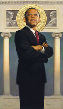 Thomas Blackshear II Barack Obama Limited Edition Lithograph Signed 19 by 33in