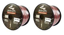 10 Gauge 200 Feet Zip Red Black 2 Conductor Copper Clad  Speaker Wire Audiopipe