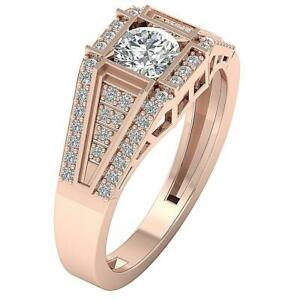 Solitaire Engagement Ring I1 G 0.90 Ct Natural Diamond 14K Rose Gold Prong Set