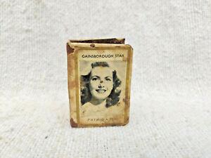 WWII Gainsborough Films Patricia Roc Jean Kent Tin Celluloid Matchbox Sleeve