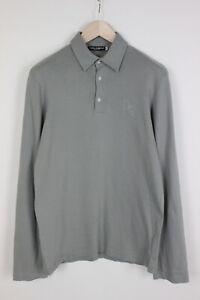 DOLCE & GABBANA Men (IT) 50 or ~M Half Buttons Long Sleeve Polo Shirt 34943_GS