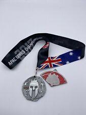 2017 Australia Spartan Sprint Finisher Medal w/ Trifecta Wedge