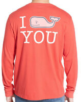 Men's VINEYARD VINES I Whale You Long-Sleeve Pocket Tee T-Shirt Size Medium EUC