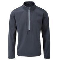 Ping Men's Waterproof Stretch Sensor Dry 1/4 Zip Golf Jacket Black Extra Large