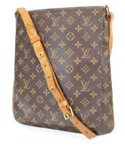 Authentic LOUIS VUITTON Musette Salsa GM Monogram Cross Body Shoulder Bag #39298